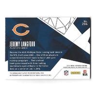 JEREMY LANGFORD 2015 Certified Freshman Fabrics Jumbo Jersey patch auto /799 RC