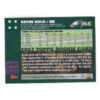 KEVIN KOLB 2007 Topps Rookie Premiere Autograph auto #KK blue ink Eagles RC
