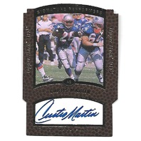 CURTIS MARTIN 1997 Upper Deck UD3 Signature Performers Die-cut auto PF2 Patriots