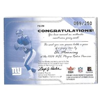 ELI MANNING 2004 Fleer Platinum Pro-Materials patch /250 New York Giants RC