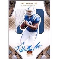 DELONE CARTER 2011 Crown Royale Rookie Patch Autograph 133/261 Card RC Colts