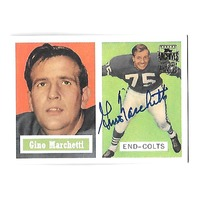 GINO MARCHETTI 2001 Topps Archives Certified Autograph auto #5 Baltimore Colts