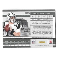 GREG McELROY 2011 Playoff Contenders Rookie Ticket auto autograph PR 204 Jets