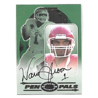 WARREN MOON 2000 Donruss Preferred QBC Pen Pals auto autograph PR 50 KC Chiefs