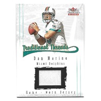 DAN MARINO 2001 Fleer Tradition Glossy Traditional Threads Game worn Jersey #23