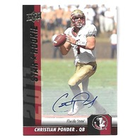 CHRISTIAN PONDER 2011 Upper Deck Star Rookie auto #131 Florida State Seminoles
