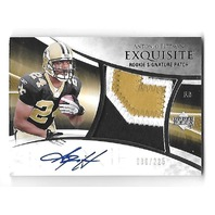 ANTONIO PITTMAN 2007 Upper Deck Exquisite Rookie Signature patch auto RC /225
