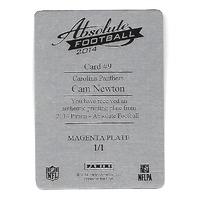 CAM NEWTON 2014 Panini Absolute Magenta Printing Plate 1/1 Carolina Panthers