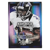 RAY RICE 2013 Panini Absolute Spectrum Platinum 2/10 Baltimore Ravens