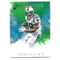 JONATHAN STEWART 2016 Panini Origins Green 5/5 Carolina Panthers #17 emerald