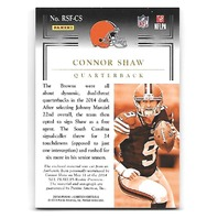 CONNOR SHAW 2014 Panini Limited Star Factor patch auto RC /10 Cleveland Browns