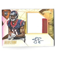 JAELEN STRONG 2015 Panini Certified Mirror Gold Auto Freshman Fabric patch rc/15