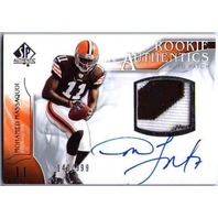 MOHAMED MASSAQUOI 2009 SP Authentic Auto Two-Color Prime Patch Rookie Card RC