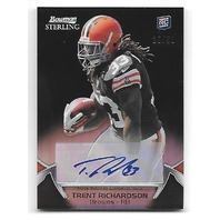 TRENT RICHARDSON 2012 Topps Bowman Sterling RC Black Refractor auto /50