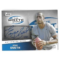 GENO SMITH 2013 SAGE Hit The Write Stuff auto /25 New York Jets