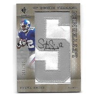 STEVE SMITH 2007 Upper Deck SP Rookie Threads Letterman patch auto /150