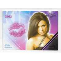 Alicia Johnson 2013 Benchwarmer Kiss Card #32