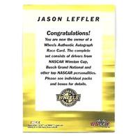 JASON LEFT TURN LEFFLER NASCAR 2001 Wheels Authentic Autograph On Card Auto #33