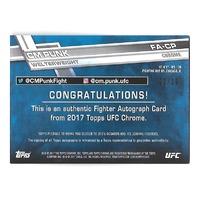 CM PUNK 2017 Topps Chrome UFC Black Refractor OnCard Auto /10 Phillip Brooks WWE