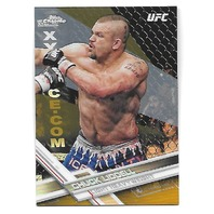 "CHUCK LIDDELL 2017 Topps Chrome UFC Gold Refractor /50 ""The Iceman"" #54"