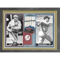 BABE RUTH/ROGER MARIS 2002 Fleer Fall Classic Rival Factions patch #RF BR-RM