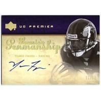 YAMON FIGURS 2007 Premier Penmanship Rookie Autograph Gold /50 Auto Card