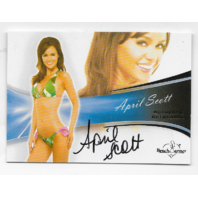 April Scott 2013 Benchwarmer Authentic Autograph #33 auto
