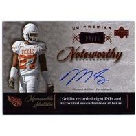 MICHAEL GRIFFIN 2007 UD Premier Noteworthy Rookie Autograph Bronze Card 24/75