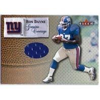 RON DAYNE 2000 Fleer Genuine Coverage Game Used Jersey Card Heisman Giants BV$25
