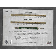 SAL MAGLIE/MONTE IRVIN 2011 SP Legendaty Cuts Past & Present Signatures auto /15