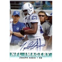 JOSEPH ADDAI Upper Deck SP Chirography Imagery Autograph Auto 2/10 Card