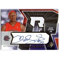 CHARLIE VILLANUEVA 2005-06 SPX Autograph Jersey Rookie Auto RC Card /750 BV$20