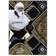 JONAS HILLER 2007-08 UD SPX Rookie Dual Jersey Swatch Card 07/08 DUCKS