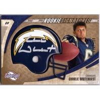 CHARLIE WHITEHURST 2006 Upper Deck Sweet Spot Rookie Auto Gold Card 25/100 RC