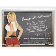 Bobbie Billard 2008 Benchwarmer School Girls auto/9 plad skirt