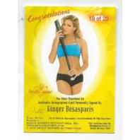 Ginger Besasparis 2003 Benchwarmer Authentic auto /20 bat  Autograph