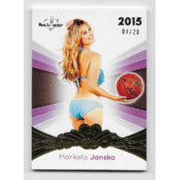 Marketa Janska 2015 Benchwarmer Signature Series /20 Basketball