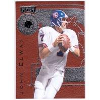 JOHN ELWAY 1996 Playoff Leatherbound Insert Card Denver Broncos Leather Bound