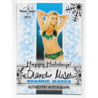 Brandie Moses 2011 Benchwarmer Happy Holidays auto Autograph