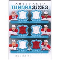 2013-14 Artifacts Tundra Sixes Jersey Price Subban Desharnais Gorges Diaz 13/14