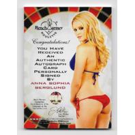 Anna Sophia Berglund 2014 Benchwarmer Vegas Baby auto /32 Autograph