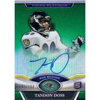 TANDON DOSS 2011 Topps Platinum Rookie Green Refractor 143/150 Auto Card