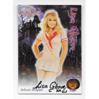 Lisa Gleave 2014 Benchwarmer Halloween auto Sexy scout Autograph
