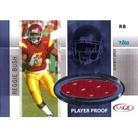 REGGIE BUSH 2006 Sage Rookie Jersey Player Proof Card #J3 7/20