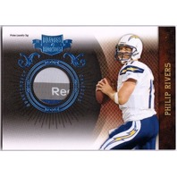 PHILIP RIVERS 2010 Plates & Patches Prime Jersey Laundry Tag Patch Card 2/4