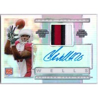 CHRIS BEANIE WELLS 2009 Topps Platinum Refractor Prime Patch Rookie Auto Card