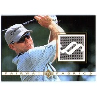 IAN LEGGATT 2003 Upper Deck Fairway Fabrics Used Worn Golf Tournament Shirt Card