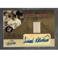 FRANK ROBINSON 2005 Playoff Absolute Memorabilia Marks Fame auto bat piece /125