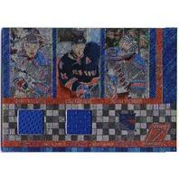 Zuccarello Callahan Lundqvist 2010-11 10/11 Zenith Mozaics Double Jersey Card