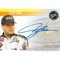 TERRY COOK 2006 Press Pass Autograph Auto Card #9
